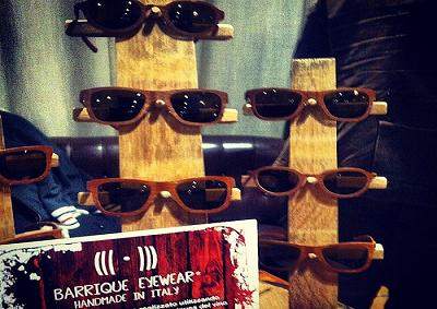 Barrique eyewear con montature di legno profumate di Brunello