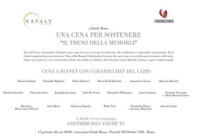 """Una cena per sostenere """"Il Treno della Memoria"""" a Eataly Roma"""