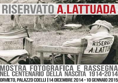 Orvieto ricorda Alberto Lattuada con mostre, rassegne e vino