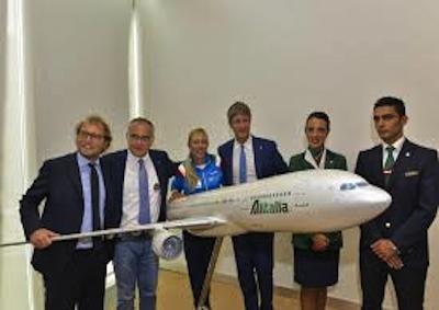 La Nazionale Maestri Sci con Alitalia vola a Interski 2015