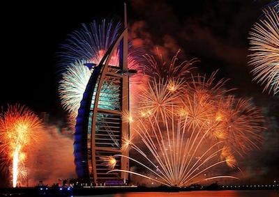 Fuochi artificiali da record per il capodanno di Dubai