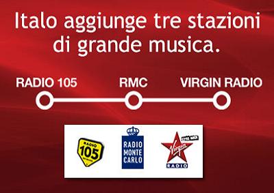 Tre stazioni radio di grande musica a bordo dei treni di Italo