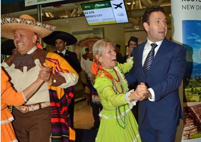 Da Roma a Mexico City sul volo inaugurale Alitalia