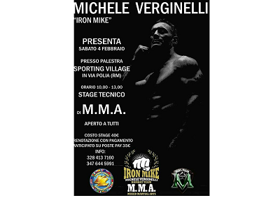 MMA: stage tecnico di Michele Verginelli a Roma