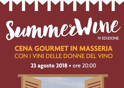 Summerwine 2018, cena gourmet in masseria